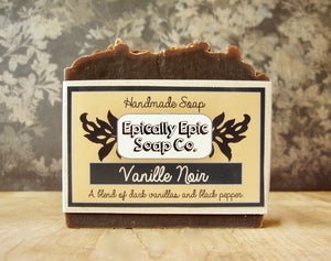 Vanille Noir Cold Process Soap - Vegan Handmade Soap