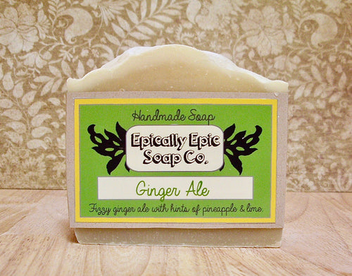 Ginger Ale Cold Process Soap - Vegan Handmade Soap