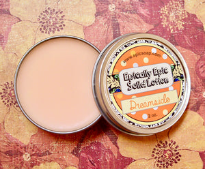 Dreamsicle Many Purpose Solid Lotion - Limited Edition Into the Summer Scent - Orange & Vanilla Cream