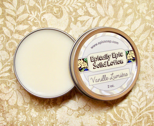 Vanille Lumiere Many Purpose Solid Lotion - Limited Edition Fall Collection Scent