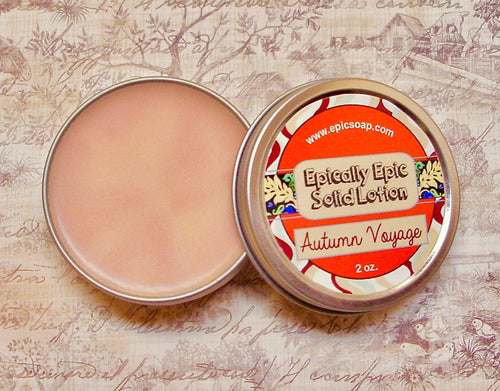 Autumn Voyage Many Purpose Solid Lotion - Limited Edition Fall Collection Scent