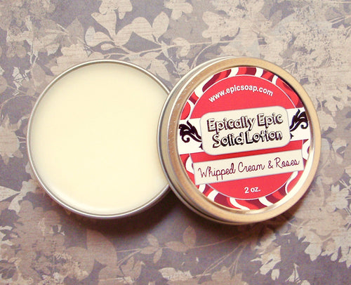 Whipped Cream & Roses Many Purpose Solid Lotion - Limited Edition Fall Collection Scent
