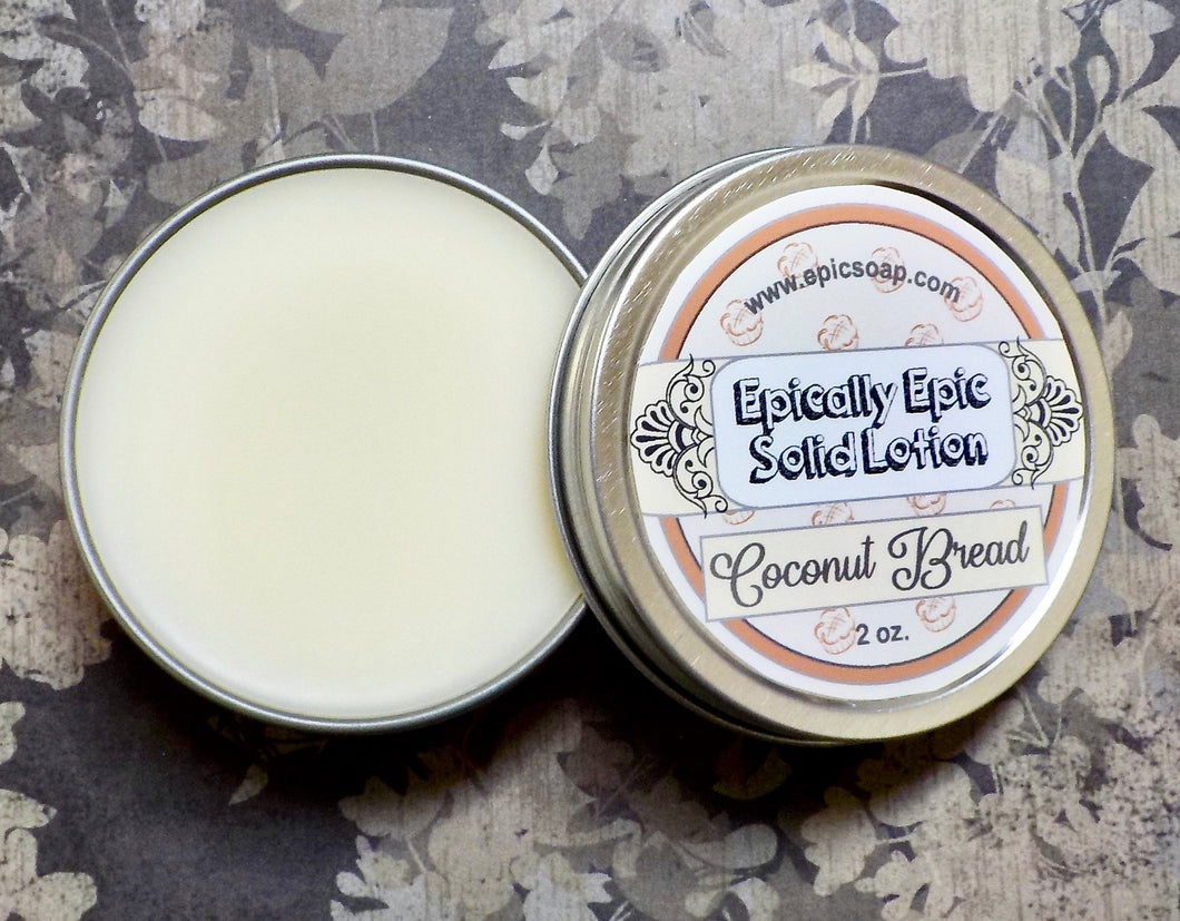 Coconut Bread Many Purpose Solid Lotion - Limited Edition British Baking Collection Part 1 Scent