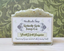 Load image into Gallery viewer, Fresh Herb Fougasse Cold Process Soap - Vegan Handmade Soap - British Baking Collection Part 1