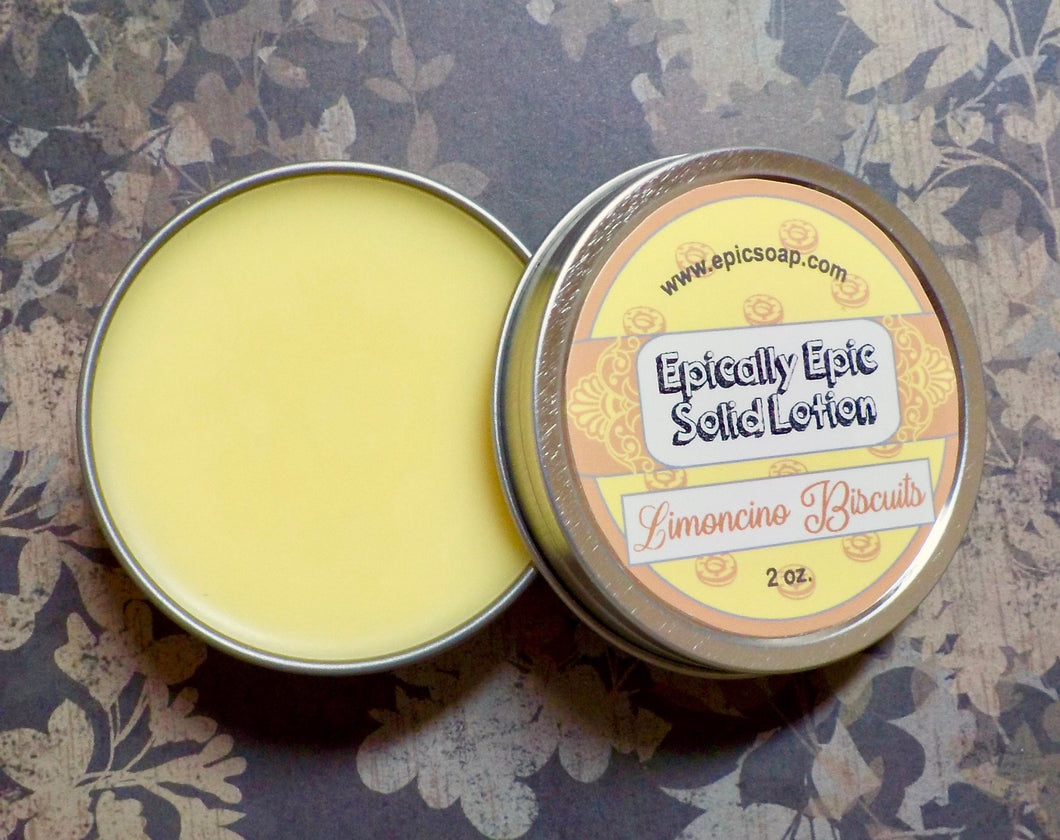 Limoncino Biscuits Many Purpose Solid Lotion - Limited Edition British Baking Collection Part 1 Scent