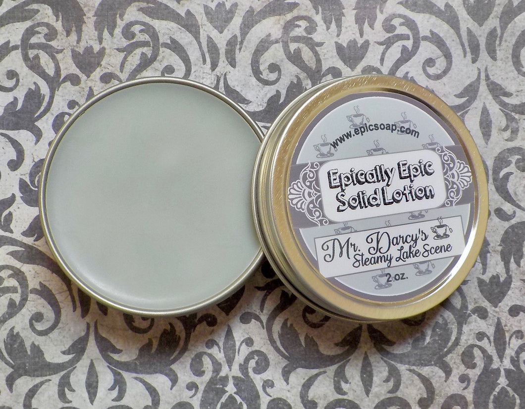 Mr. Darcy's Steamy Lake Scene Many Purpose Solid Lotion - Limited Edition British Baking Collection Part 1 Scent