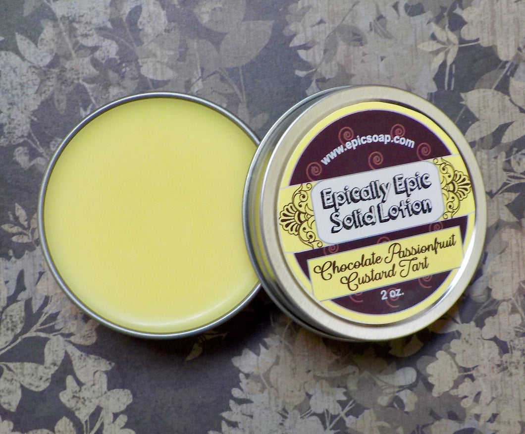 Chocolate Passionfruit Custard Tart Many Purpose Solid Lotion - Limited Edition British Baking Collection Part 1 Scent