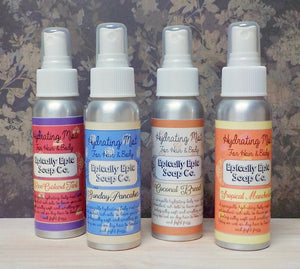 Argan Oil Mist for Hair and Body - Choose a scent from the British Baking Collection Part 1