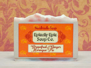 Grapefruit and Ginger Meringue Pie Cold Process Soap - Vegan Handmade Soap - British Baking Collection Part 2