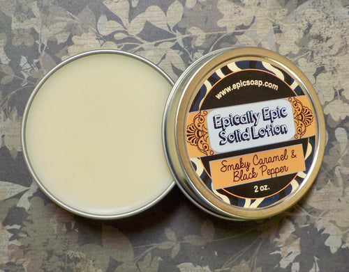 Smoky Caramel & Black Pepper Many Purpose Solid Lotion - Fall Collection 2020 New Scent