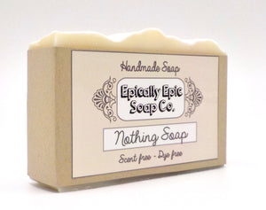 Nothing Soap - Vegan Handmade Cold Process Soap - Unscented
