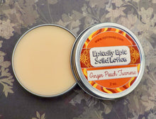 Load image into Gallery viewer, Ginger Peach Turmeric Many Purpose Solid Lotion - Winter / Spring 2021 Collection Scent