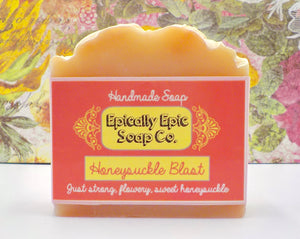 Honeysuckle Blast Cold Process Soap - Vegan Handmade Soap - Winter / Spring 2021