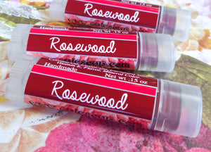 Rosewood Lip Tint - Vegan Tinted Lip Balm - Metallic Warm Red