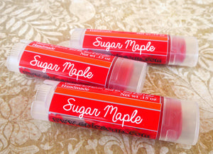 Sugar Maple Lip Color - Vegan Tinted Lip Balm - World's Brightest Warm Red (Reformulated)
