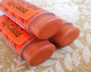 Pumpkin Patch Lip Color - Vegan Tinted Lip Balm - Perfectly Pumpkin Orange