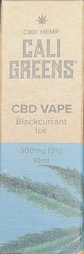 Cali Greens Vape - Blackcurrant Ice 10ml CBD E Liquid