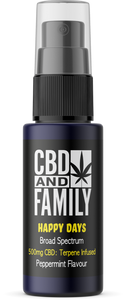 500mg CBD - Terpene Infused CBD Oral Spray - Happy Days Edition 10ml
