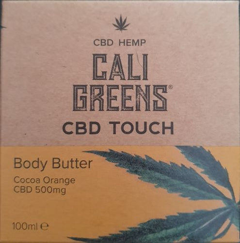 Cali Greens - CBD Touch Body Butter- Cocoa Orange 500mg