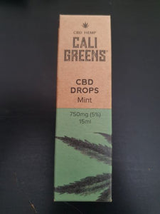 Cali Greens-  Full Spectrum CBD Mint Drops 15ml Tincture