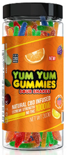 Load image into Gallery viewer, CBD Yum Yum Gummies - Sour Snakes (250mg-1500mg)