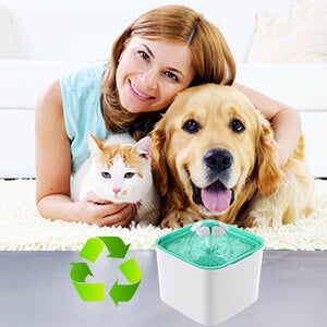 Petacc Cat Water Fountain Automatic Pet Water Drinking Fountain Ultra-quiet Dog Fresh Water Dispenser