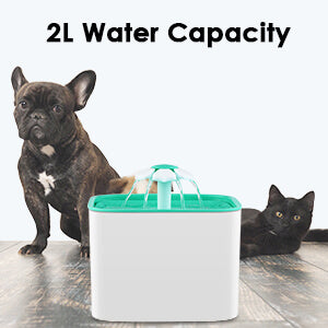Petacc Pet Fountain Cat Dog Water Dispenser Pet Drinking Fountain with Pump and 4 Replacement Filters