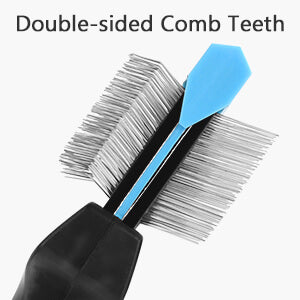 Petacc Double Sided Pet Grooming Brush Flexible Pet Pin Brush Double Sided Dog Slicker