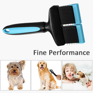 Petacc Double Sided Pet Grooming Brush Flexible Pet Pin Brush