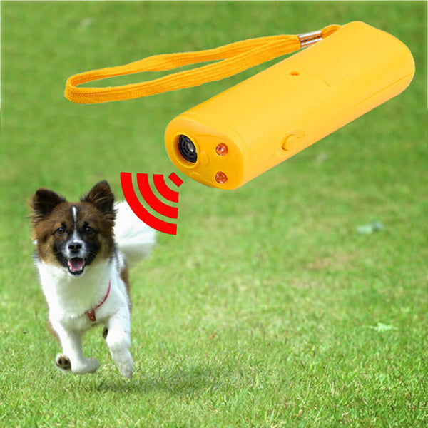 Petacc 3 in 1 Dog Bark Control Device Ultrasonic Anti-bark Controller Practical Dog Training Device Pet Repellent with LED Flashlight - Petacc