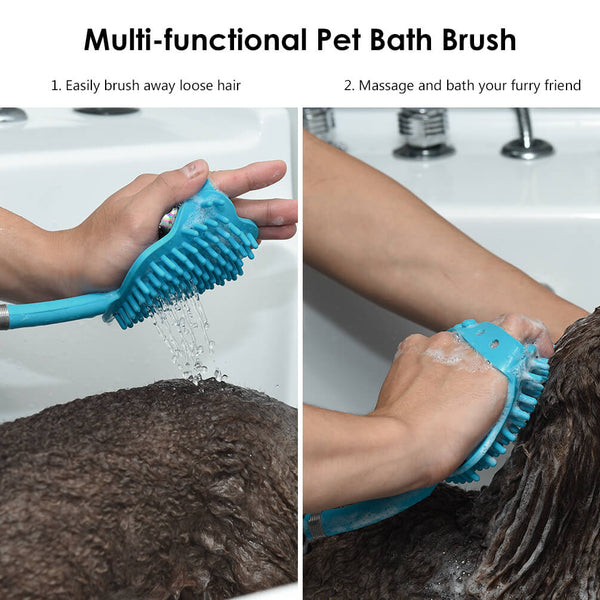 Petacc Dog Bathing Tool Pet Bath Brush Pet Shower Sprayer - Petacc