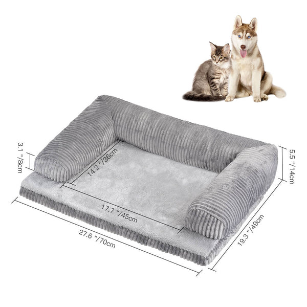 Petacc Dog Bed Detachable Pet Bed Soft Pet Sofa Comfortable Dog Lounge for Dogs & Cats - Petacc