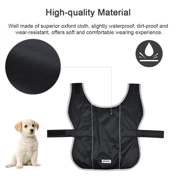 Petacc Dog Coats Dog Jackets Waterproof Coats Dogs Windproof Cold Weather Coats Dog Fleece Coat Warm Pet Vest with Reflective Stripe, Suitable for Medium and Large Size Dogs, Black - Petacc