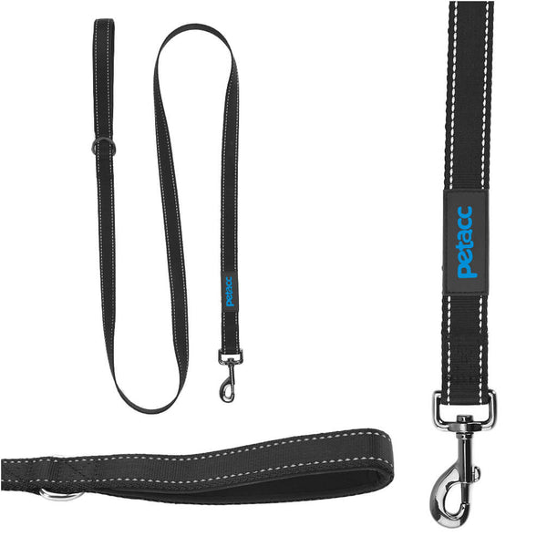 Petacc Dog Leash Dog Nylon Walking Leash Pet Pulling Leash with Anti-slip Handle, Black - Petacc