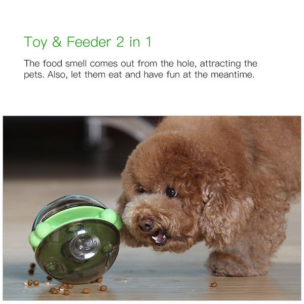 Petacc Dog Treat Ball Dog Training Toy Shaking IQ Treat Ball Pet Feeder Dog Food Dispenser - Petacc