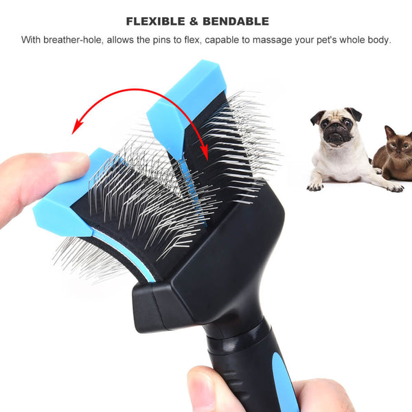 Petacc Double Sided Pet Grooming Brush