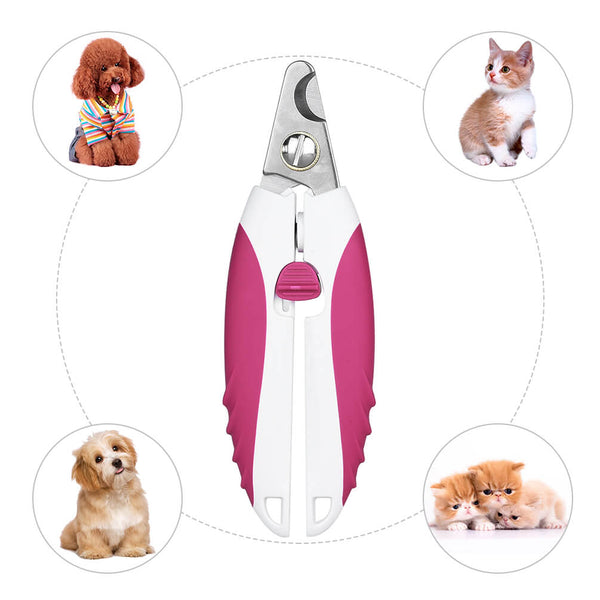 Petacc Durable Pet Nail Clipper Stainless Steel Dog Nails Cutter Practical Pet Nail Trimmer