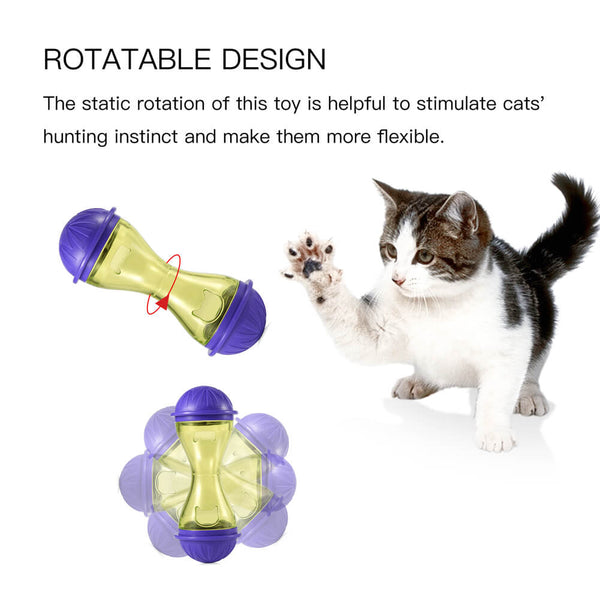 Petacc Pet Feeder Cat Food Toy Treats Dispensing Toys Mental Stimulation for Cats Small Dogs - Petacc