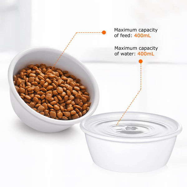 Petacc Pet Feeding Bowl Cat Food Bowl Pet Food & Water Bowl Melamine Cat Bowl - Petacc