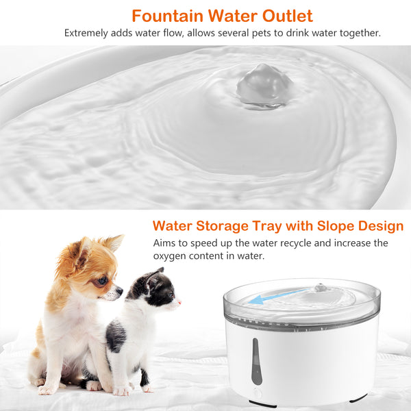 Petacc Pet Fountain Automatic Cat Dog Water Dispenser - Petacc
