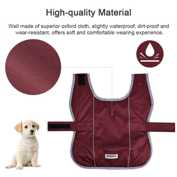 Petacc Pet Jacket Dog Coat Warm Pet Vest Windproof Dog Apparel