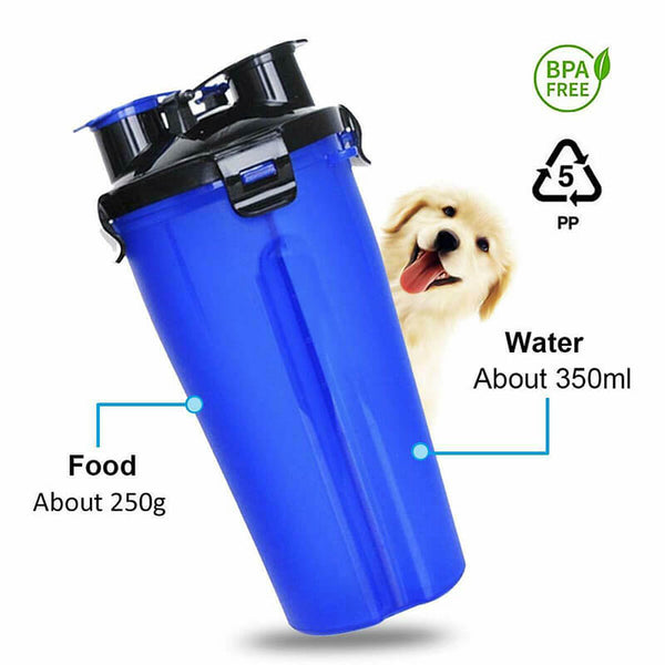 Petacc Pet Water Bottle and Bowl Set Travel Pet Water Container Collapsible Cup Dog Outdoor Drinking Bottle Bowl, 1 Bottle, 1 Bowl - Petacc