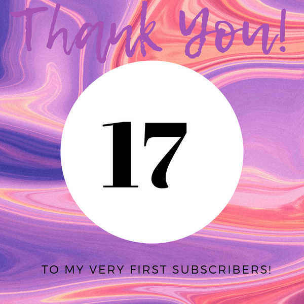 Thanks to Our First Subscribers!
