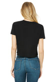 Womans Short Sleeve Made in U.S.A Cropped Tee - Feed Your Soul