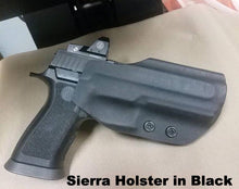 Load image into Gallery viewer, Race gun holster in black kydex