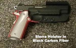 Competition holster in Black Carbon Fiber