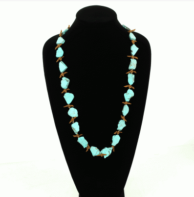 Western Stone Necklace on mannequin