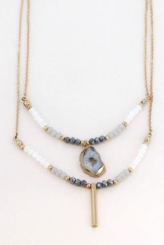 Layered Geode Necklace