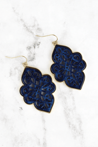 Navy Moroccan Earrings