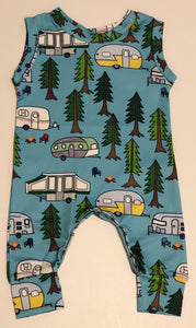Camping Blue Jumpsuit